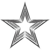 Grunge star. Charcoal drawing. Vector element for your design royalty free illustration