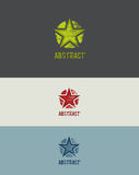 Grunge Star Design Element. Abstract vector rough effect stock illustration