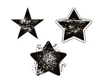 Grunge star element damaged vector design set Stock Image