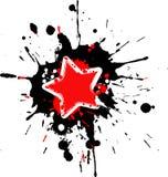 Grunge star frame. With splashes stock illustration