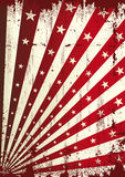 Grunge star and red sunbeams background Royalty Free Stock Photos