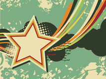 Grunge star retro art. Grunge star artistic retro design with space for text vector illustration