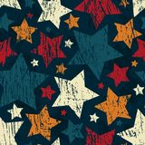 Grunge star seamless pattern Royalty Free Stock Photography