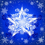 Grunge star & snowflakes Royalty Free Stock Photo