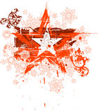 Grunge star & snowflakes Stock Images