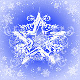 Grunge star & snowflakes Stock Image