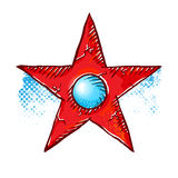 Grunge star symbol. Stock Image