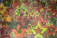 Grunge stars background. Grunge background with colorful stars vector illustration