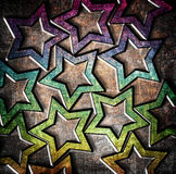 Grunge stars background Royalty Free Stock Photos