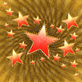 Grunge stars background Royalty Free Stock Photo