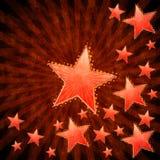 Grunge stars background Royalty Free Stock Images