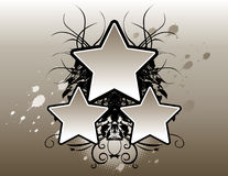 Grunge Stars Background royalty free stock images