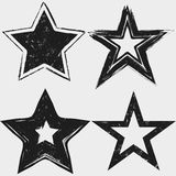 Grunge stars black and white collection Stock Photo