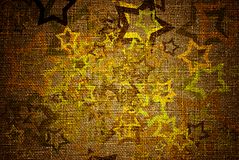 Grunge stars on canvas Royalty Free Stock Photo