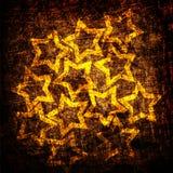 Grunge stars la struttura del tessuto Immagini Stock