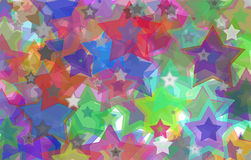Grunge Stars On The Wall Stock Photos