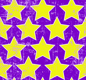 Grunge stars seamless Royalty Free Stock Images