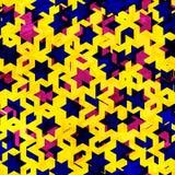 Grunge stars seamless texture Stock Photo