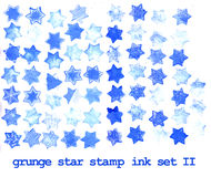 Grunge stars stamps Royalty Free Stock Photography