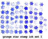 Grunge stars stamps Royalty Free Stock Images