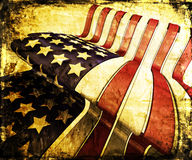 Grunge stars and stripes stock photography