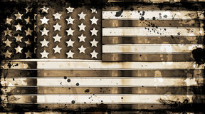 Grunge stars and stripes Royalty Free Stock Photo