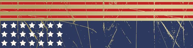 Grunge stars and stripes background Stock Photography