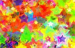 Grunge Stars on the wall stock illustration