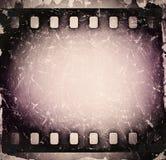 Grunge stary porysowany ekranowy pasek Rocznik Fotografia Royalty Free