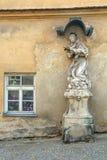 Grunge statue of saint Royalty Free Stock Image