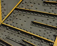 Grunge steel and rivets stock photo