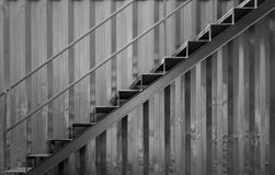 Grunge steel stair Royalty Free Stock Image