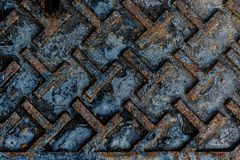 Grunge stell with rust Stock Image