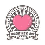 Grunge Stempel mit Innerem. Valentinsgruß Stockfotos