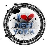 Grunge Stempel mit New York Stockbild