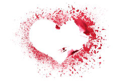 Grunge stencil red heart Stock Photography