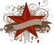 Grunge Stern-Fahne stock abbildung