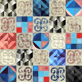 Grunge stilish geometric pattern Stock Photography