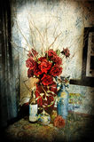 Grunge still life with rose Royalty Free Stock Images