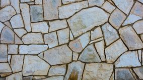 Grunge stone wall with irregular pattern. Background and texture copy space Royalty Free Stock Photos