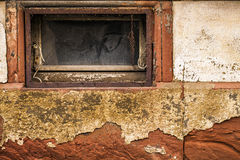 Grunge Stone Wall and Window Royalty Free Stock Images