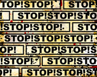 Grunge stop background Royalty Free Stock Images