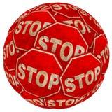 Grunge stop background Stock Photo