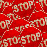 Grunge stop background Royalty Free Stock Photography