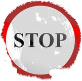 Grunge stop sign Stock Photos