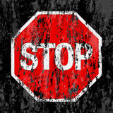 Grunge stop sign background Royalty Free Stock Photos