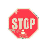 Grunge  on  stop  sign retro  old  background Royalty Free Stock Photography