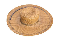Grunge straw hat Royalty Free Stock Photography