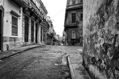 Grunge street scene in Old Havana Royalty Free Stock Photos
