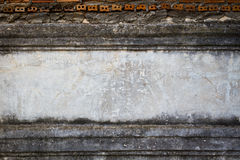 Grunge street wall background, texture with horizontal middle co Stock Photos